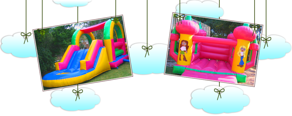 jumping castle and slide combos