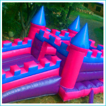2 in 1 fairy jumping castle